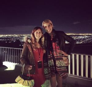 My coworker, Heather, and I at dinner the first night. What a view!